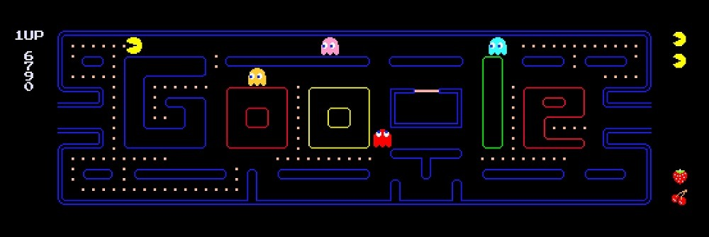 pacman-google-search-game