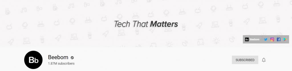 beebom tech youtube channel