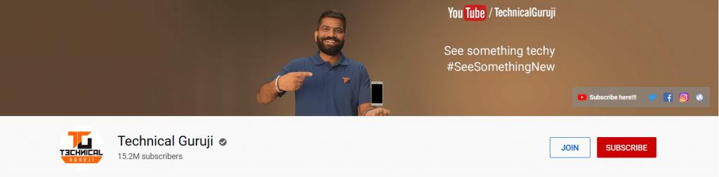 Technical guruji tech youtube channel