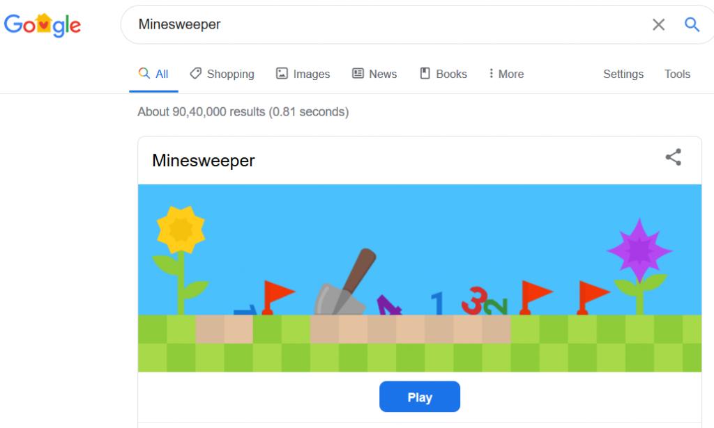 Minesweeper Google Game
